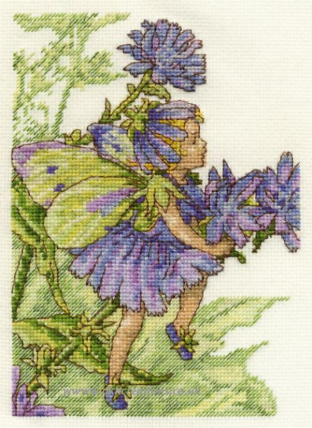 Flower Fairies The Chicory Fairy Cross Stitch Kit